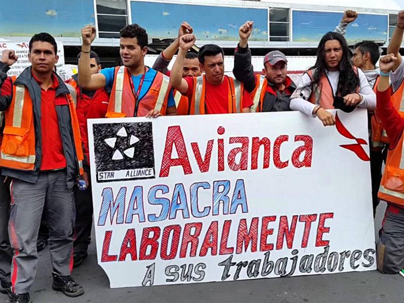 Trabajadores tercerizados de Avianca convocan a plantón frente al Mintrabajo