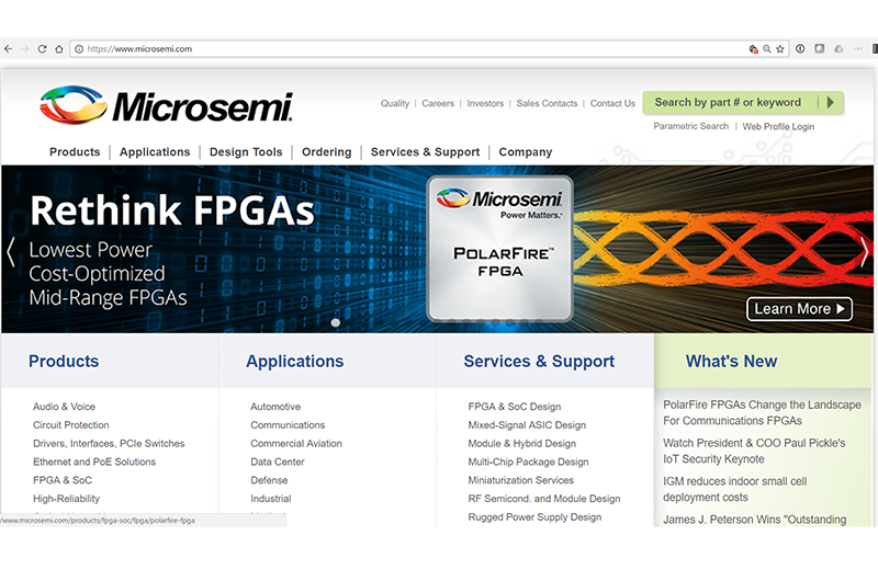 Converge! Network Digest: Microsemi Unveils low power FPGA