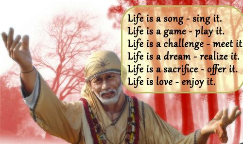 Sai Baba Life Inspiration Quotes
