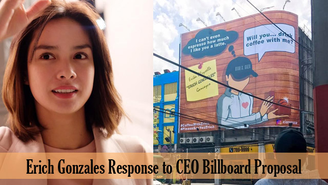 Actress Erich Gonzales Response to CEO Billboard Proposal