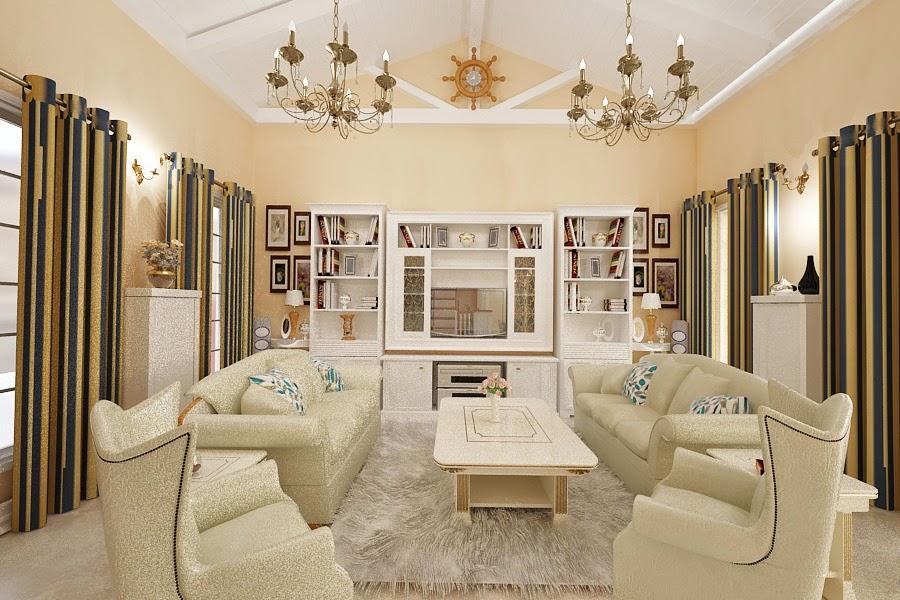 Design interior living clasic de lux