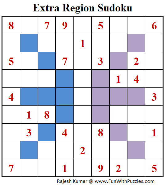 Extra Region Sudoku (Fun With Sudoku #140)