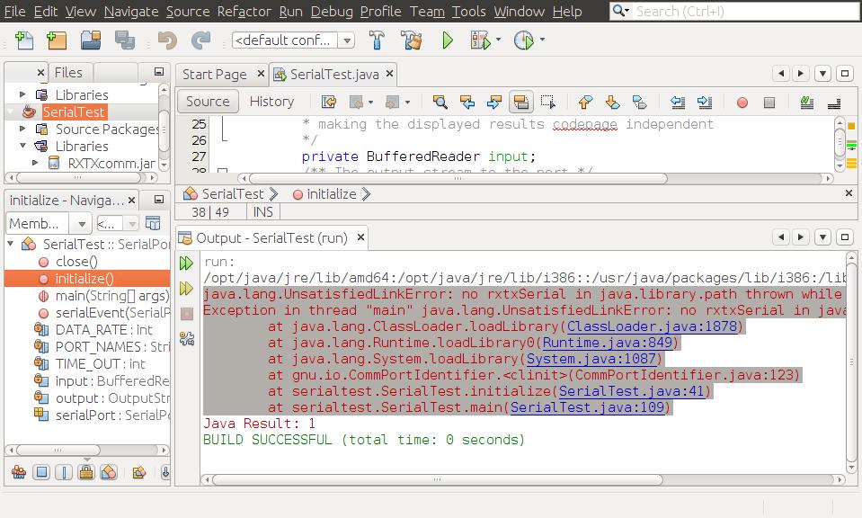 Java-Buddy: Setup RxTx jar and  so for Ubuntu