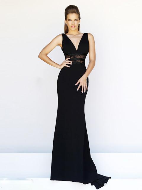 Etui-Linie aus Chiffon Träger Ärmelos Schwarz Abendkleider
