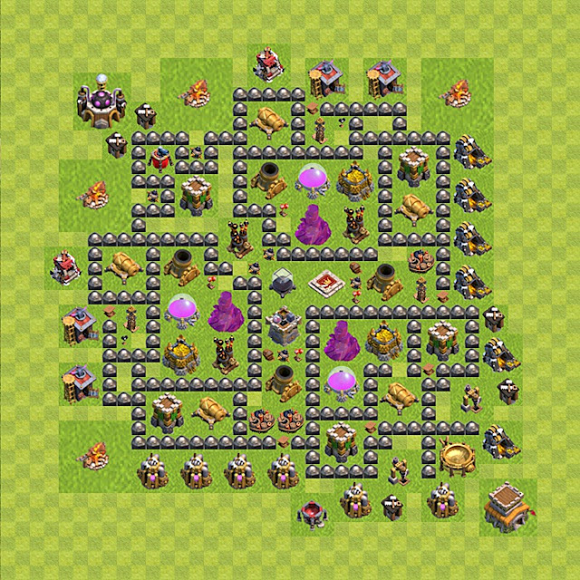 Gambar Base Farming Clash of Clans Town Hall 8