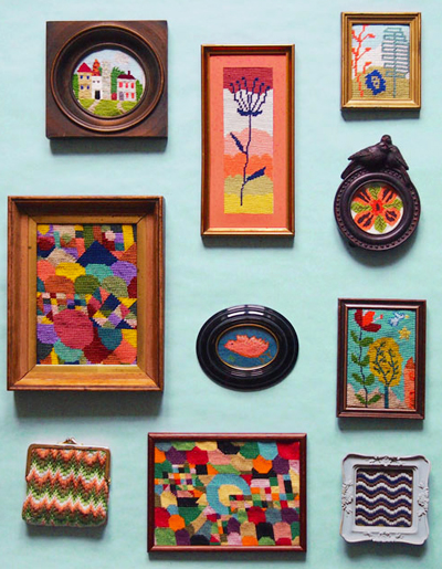 Colourful needlework craft