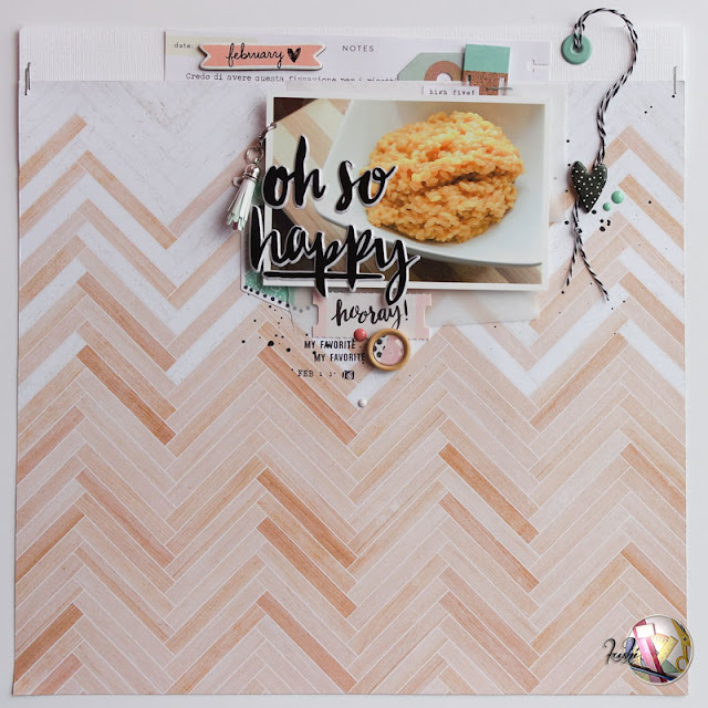 scrapbook layout oh so happy by kushi per Scrappiamo Insieme