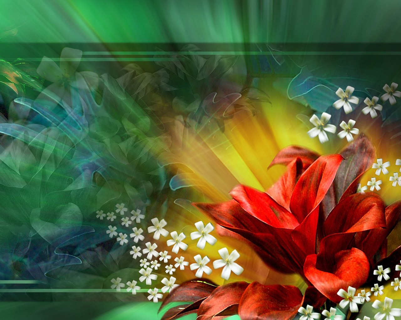 Abstract Design Flower Wallpaper
