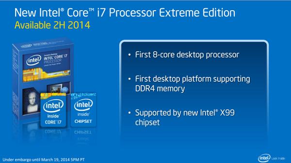 Intel Terbaru Core i7 Extreme Haswell-E X99