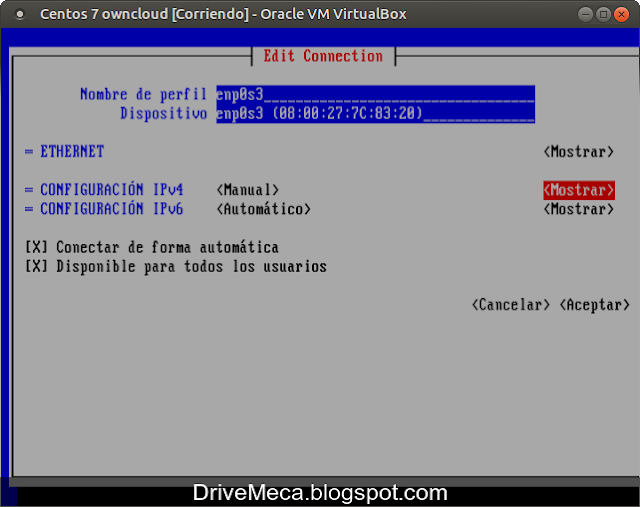 Activamos que se muestre toda la configuracion IPv4