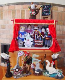 Knitted 12 days of Christmas on stage