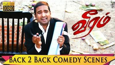 Veeram Scene | Back 2 Back | Santhanam Comedy Scenes | Thala Ajith, Tamana