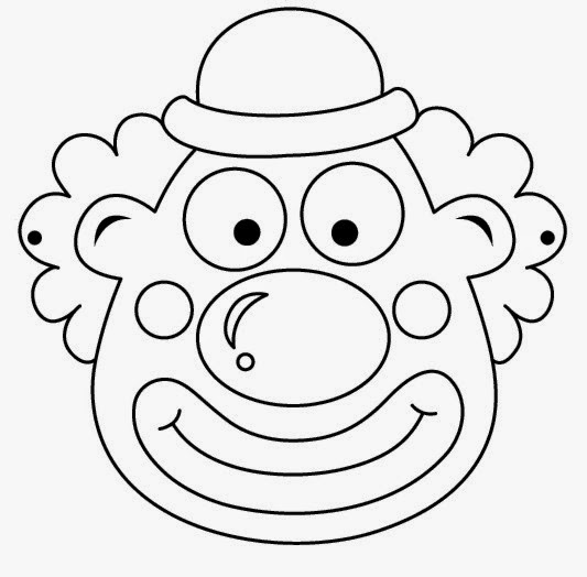 picture regarding Printable Clown Face titled Clowns Free of charge Printable Coloring Masks or Templates. - Oh My