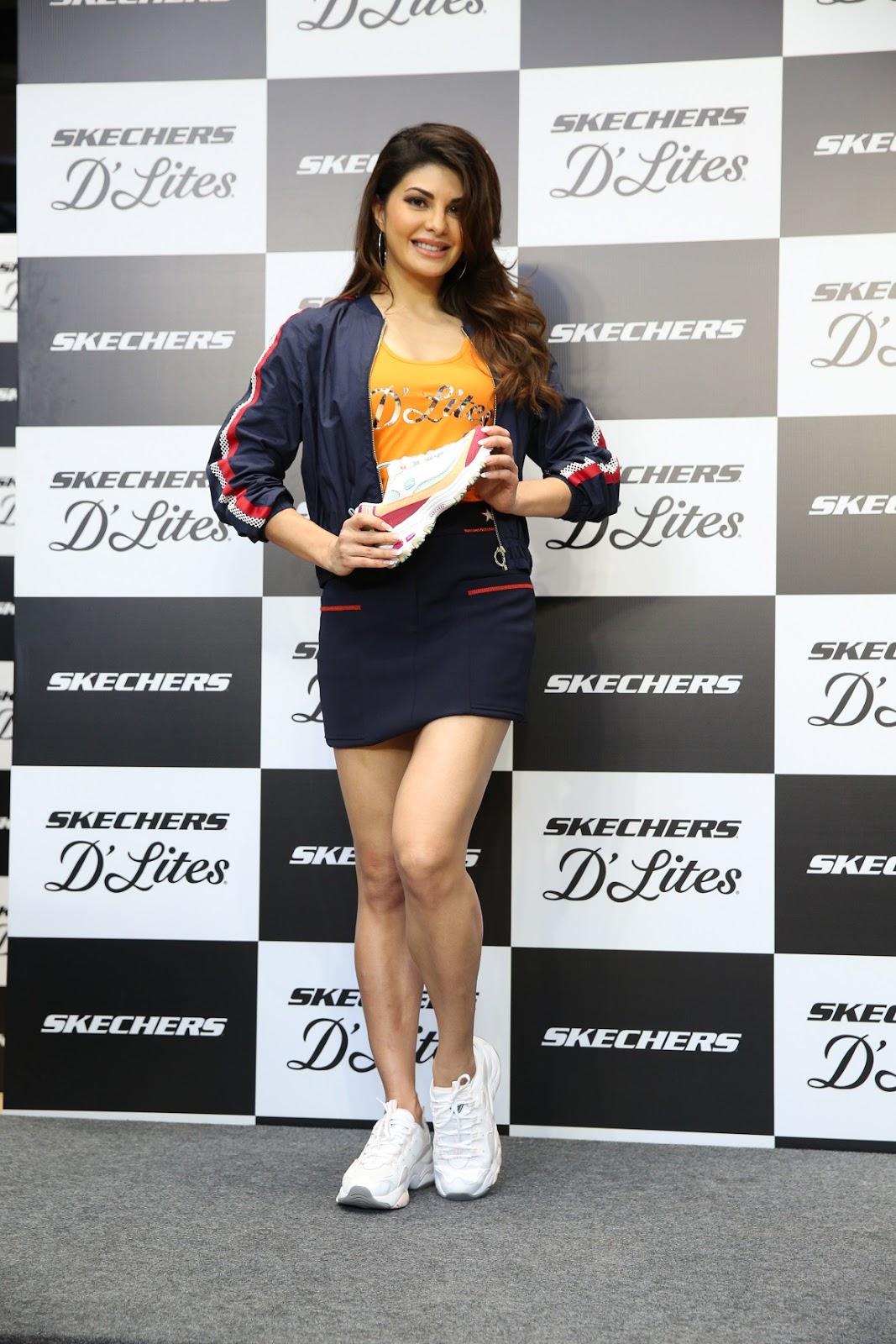 """22e100ae85d0 Jacqueline Fernandez Launches """"Skechers D Lites"""""""