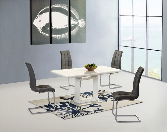 best Design kitchen table and chairs grey