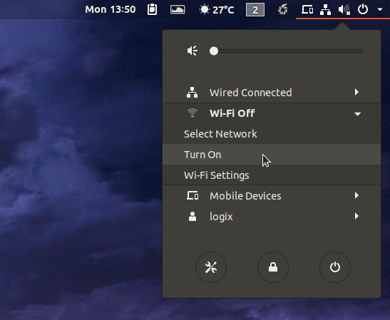 Ubuntu turn on WiFi