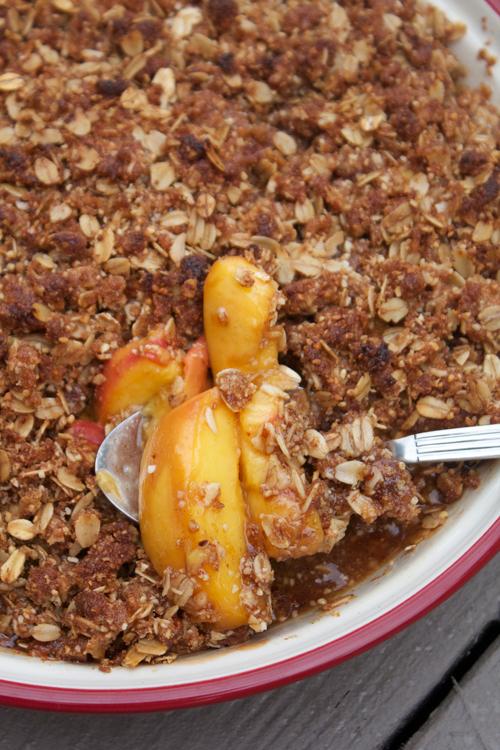 Peach Crisp || A Less Processed Life