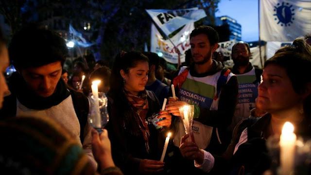 Protestan en Argentina en defensa de la universidad pública