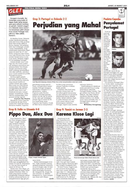 PRA-PIALA DUNIA 2002 PORTUGAL VS BELANDA 2-2