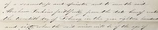 Detail from Martha Eastman Deed of Indenture