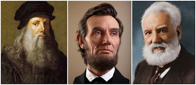 Cowo Berjenggot Lebih Cerdas Seperti Alexander Graham-Bell, Abraham Lincoln, dan Leonardo Da Vinci