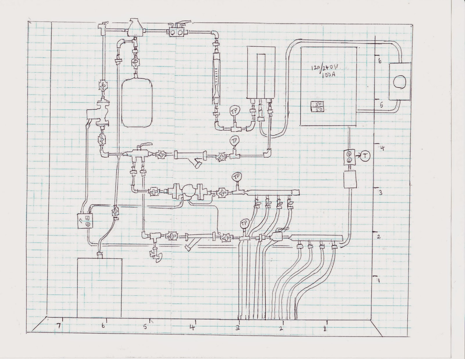 Hydronic System For Attached Garage Sketch Component