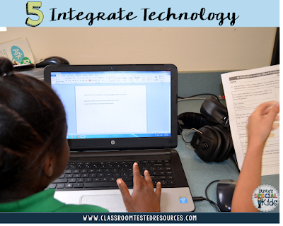 Integrate technology using a word processor for word problems