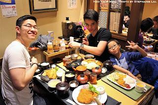 Jon, Christian and Jason at Ganko Tonkatsu Namba in Osaka, Japan