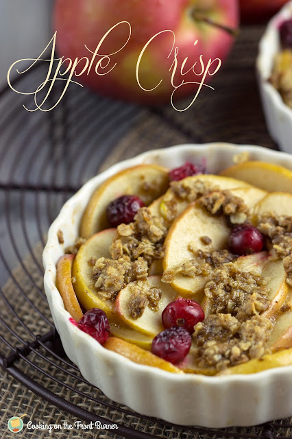 Individual Apple Crisp with Cranberries | Cooking on the Front Burner