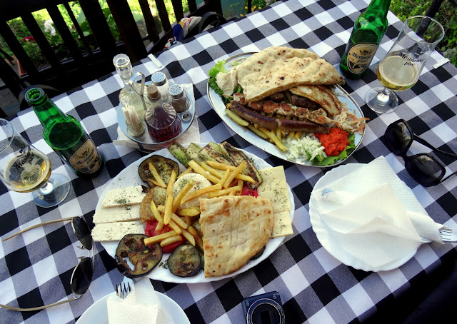 Traditional Bosnian Meat Platter for Lunch in Mostar
