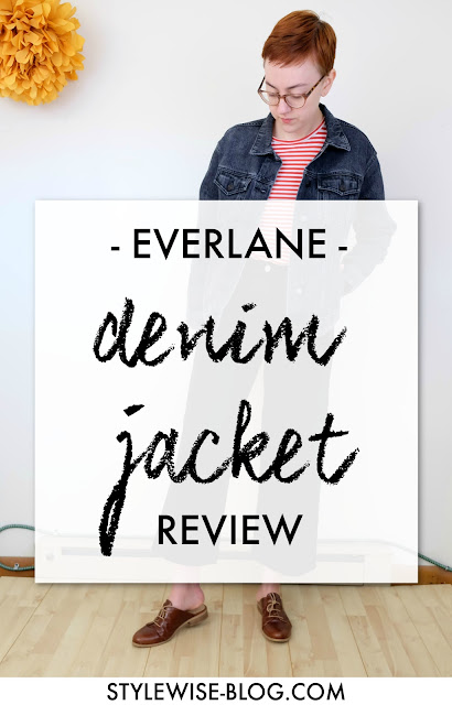everlane denim jacket in washed black review stylewise-blog.com