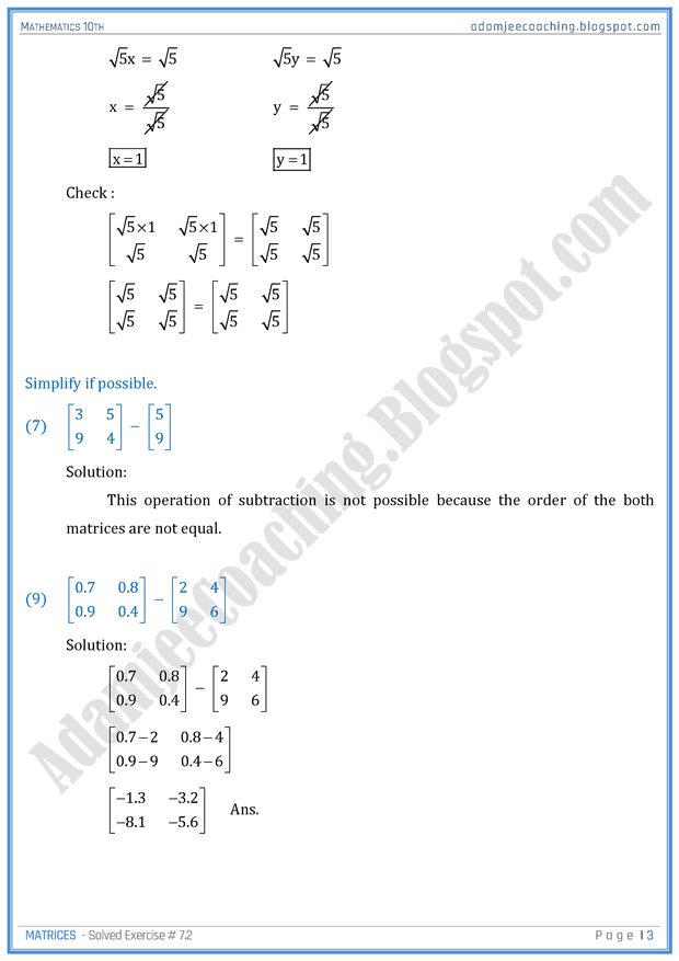 matrices-exercise-7-2-mathematics-10th