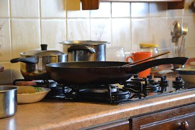 calentar aceite en la sarten