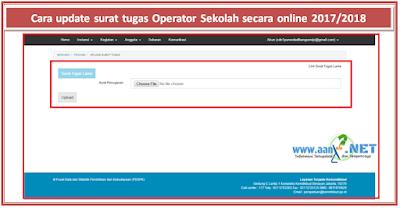 Cara update surat tugas Operator Sekolah secara online 2017/2018