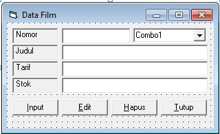 Program Rental CD/DVD Lengkap Di Visual Basic 6.0