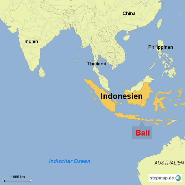 Bali Karte Asien.Rucksack Auf Und Los Bali