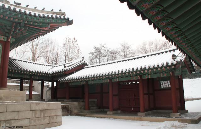 Palacio Gyeonhuigung nevado