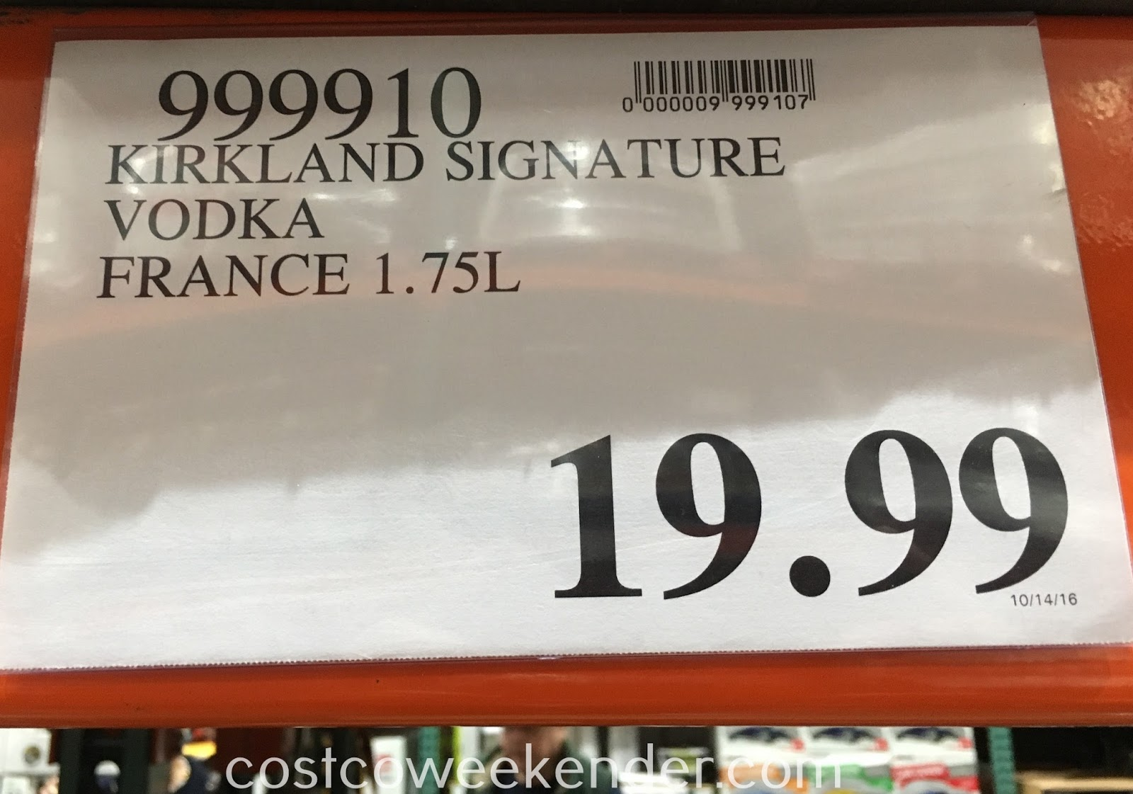 Deal for Kirkland Signature American Vodka at Costco