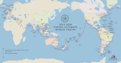 Viking Ocean Cruises Announces 245-day 2019 World Cruise on the Viking Sun