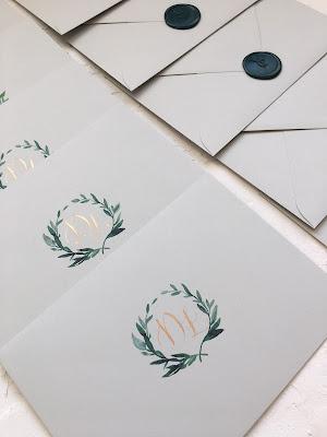 Koperty na zaproszenia ślubne od White Letters (pieczęć).