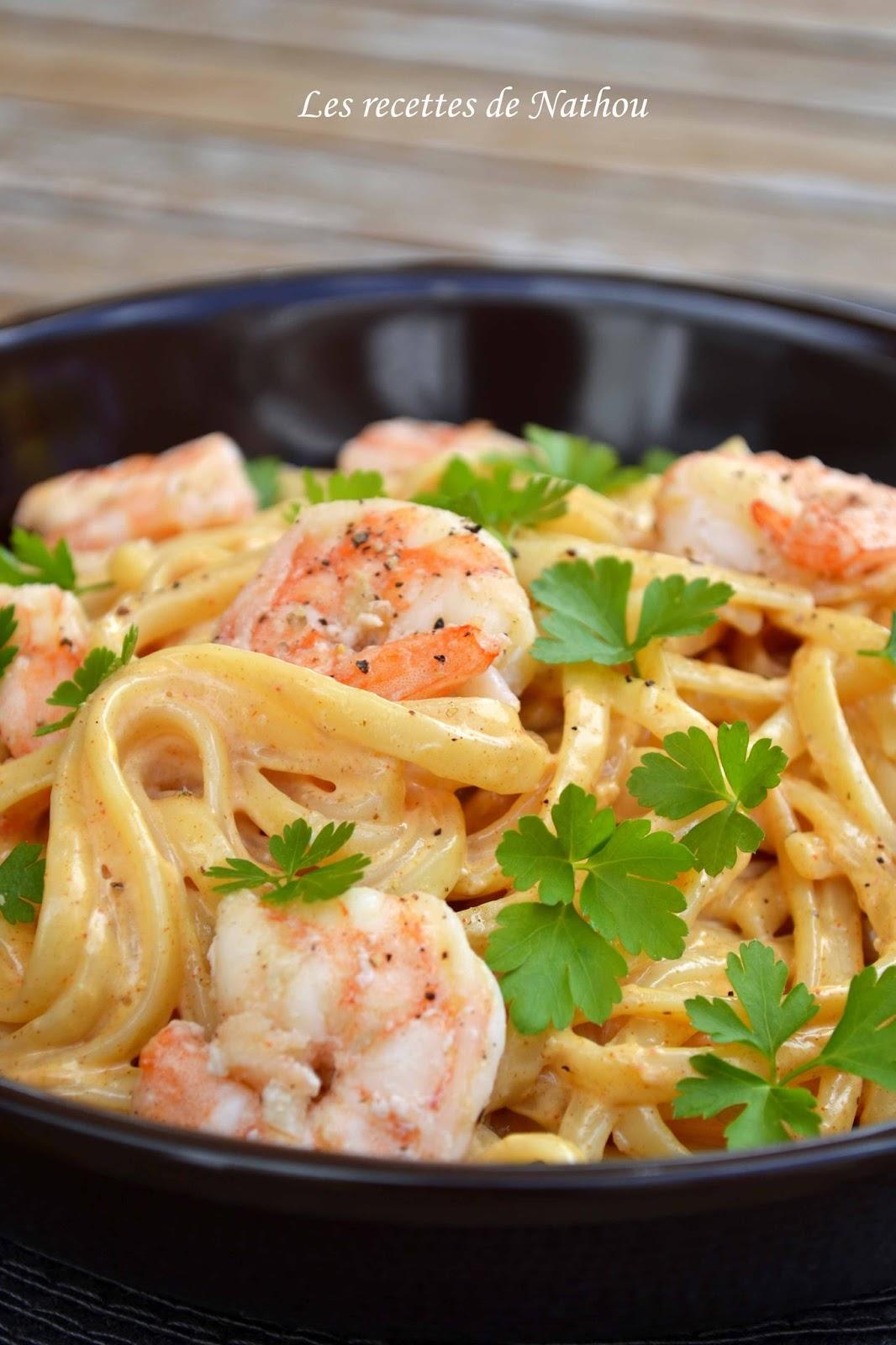 ma cuisine au fil de mes id 233 es p 226 tes linguine aux crevettes sauce cr 233 meuse 224 l ail paprika