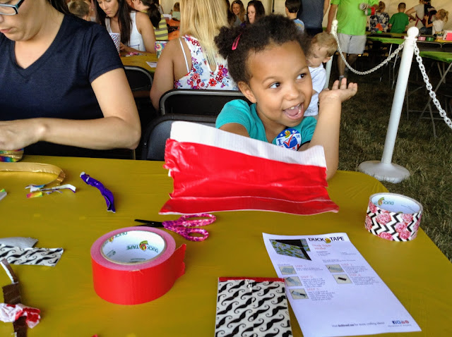 Creating at the Avon Duck Tape Festival