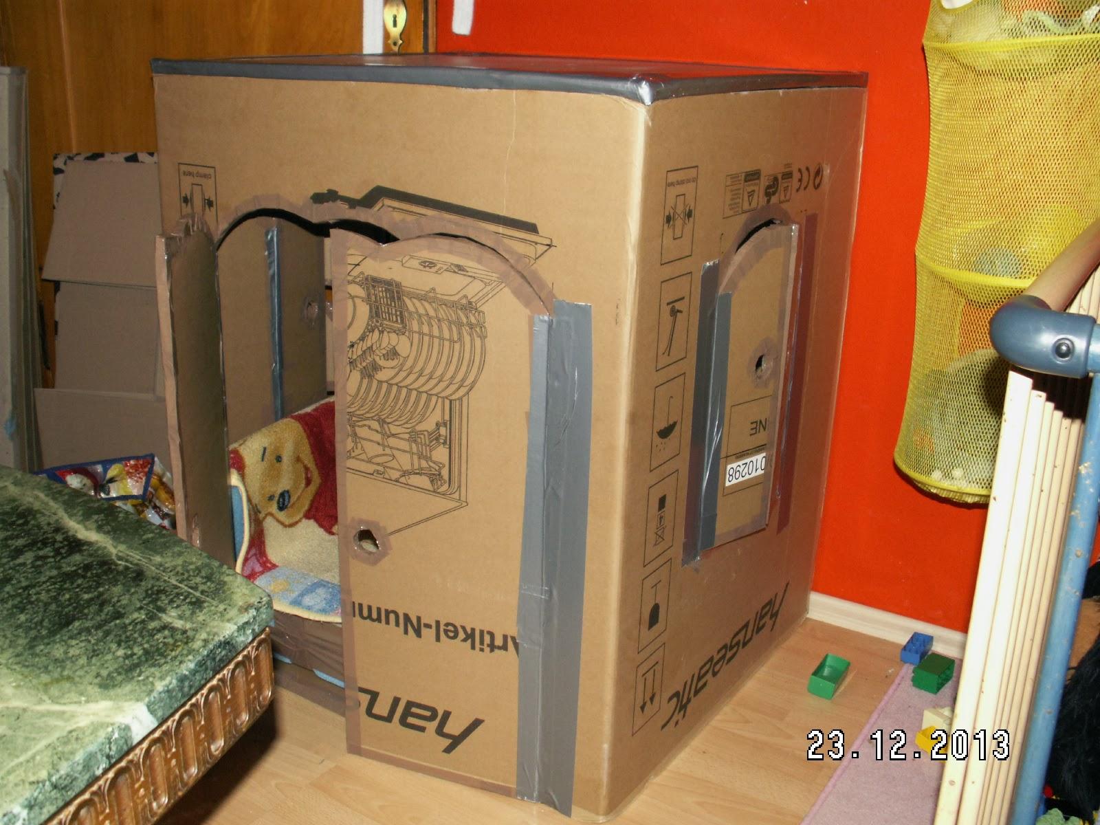 haus aus karton basteln anleitung wohn design. Black Bedroom Furniture Sets. Home Design Ideas