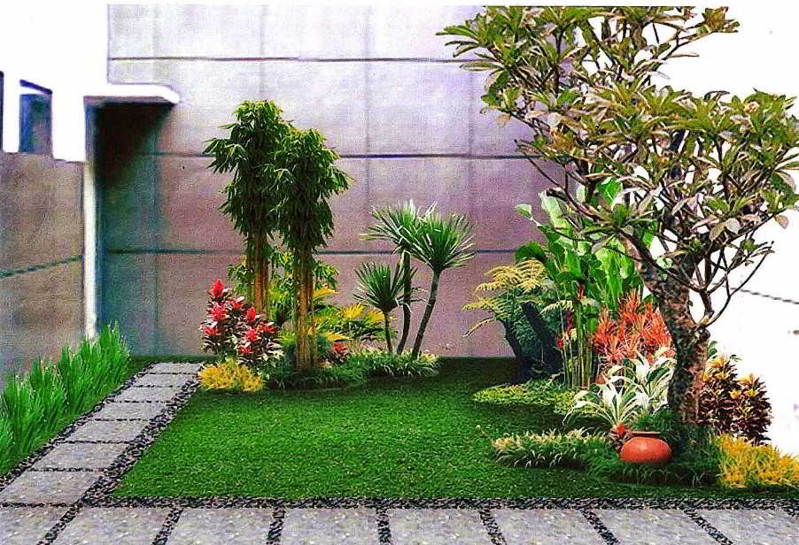 Gambar Desain Taman Depan Rumah Minimalis Modern Sederhana