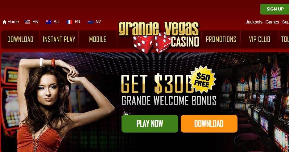 Grande vegas casino no deposit bonus codes 2019