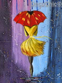 Dziewczyna z parasolem – obraz