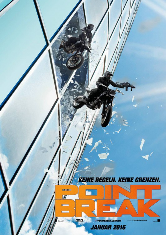 Poster Of Point Break 2015 Hindi Dubbed CAMRip Free Download Watch Online