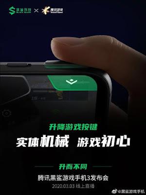 Black Shark 3 Pro 5G, Kendinden Tetik Tuşlarına sahip olacak