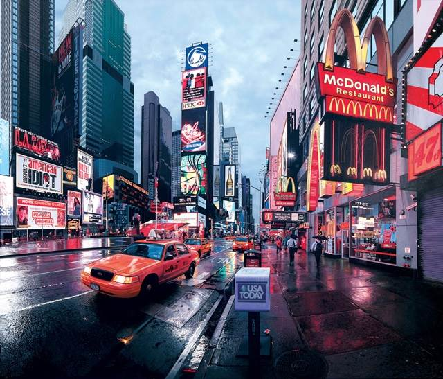 Time Square early morning