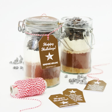 Hot Cocoa Mix Gift in a Jar with Free Printable Gift Tags